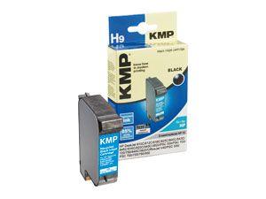 Tintenpatrone KMP, kompatibel für HP 15 (C6615D), schwarz