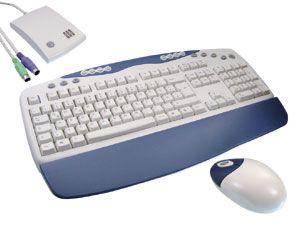 Funk-Tastatur und -Maus