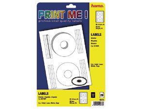 Etiketten für CDs/DVDs und CD/DVD-Hüllen