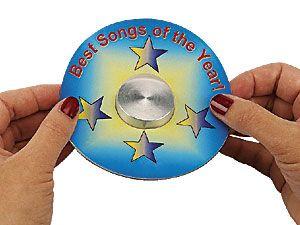 Zentrierhilfe für CD-Etiketten