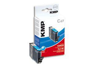Tintenpatrone KMP, kompatibel für Canon CLI-8C, cyan