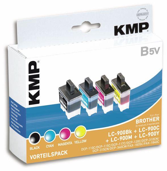 Tintenpatronen-Set KMP, kompatibel für Brother LC-900BK/C/M/Y