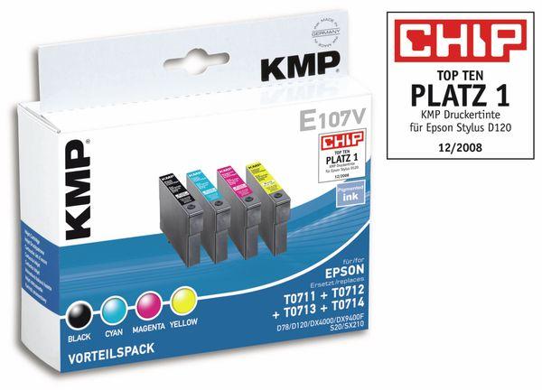Tintenpatronen-Set KMP, kompatibel für Epson T0715 - Produktbild 1