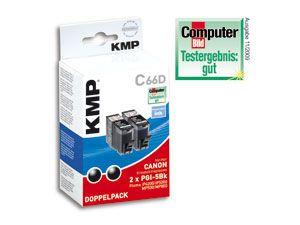 Tintenpatronen-Set KMP, kompatibel für Canon 2x PGI-5BK, 2x schwarz