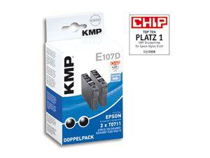 Tintenpatronen-Set KMP, kompatibel für Epson T0711, schwarz - Produktbild 1