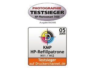 Tintenpatronen-Set KMP, kompatibel für 2x HP 56 (C6656AE), schwarz - Produktbild 2