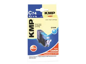 Tintenpatrone KMP, kompatibel für Canon CLI-521C, cyan