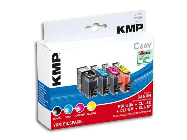 Tintenpatronen-Set KMP, kompatibel für Canon PGI-5BK/CLI-8C/M/Y
