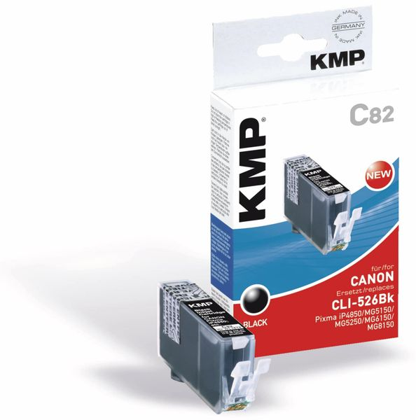 Tintenpatrone KMP, kompatibel für Canon CLI-526BK, schwarz