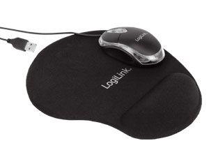 Optische USB-Maus mit Gel-Mauspad LogiLink ID0039 - Produktbild 1