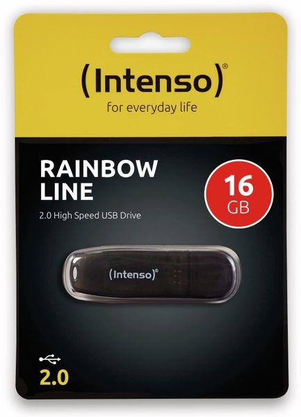 USB-Speicherstick INTENSO Rainbow Line, 16 GB - Produktbild 2