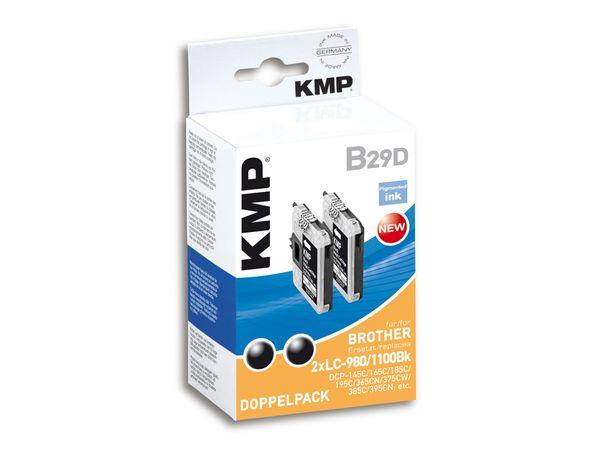 Tintenpatronen-Set KMP, kompatibel für Brother LC-980/LC-1100BK, schwarz