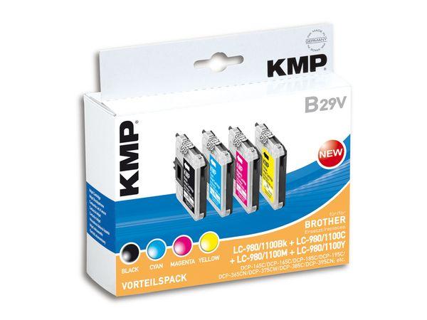 Tintenpatronen-Set KMP, kompatibel für Brother LC-980/LC-1100BK/C/M/Y