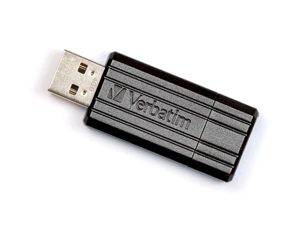 USB-Speicherstick VERBATIM PinStripe, 64GB