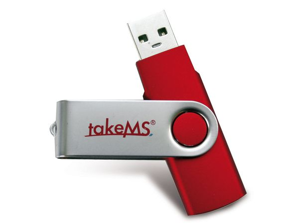 USB-Speicherstick takeMS MEM-Drive Mini Rubber, 8 GB, rot