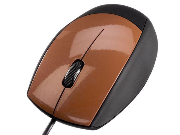 Optische USB-Maus HAMA M362, schwarz/terracotta - Produktbild 1