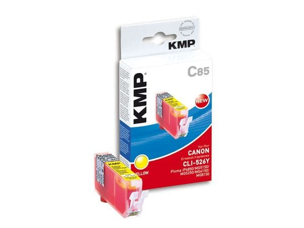 Tintenpatrone KMP, kompatibel für Canon CLI-526Y, gelb