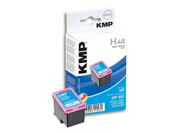 Tintenpatrone KMP, kompatibel für HP 901 (CC656AE), 3-Color