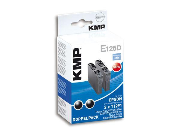 Tintenpatronen-Set KMP, kompatibel für Epson 2x T1291, schwarz