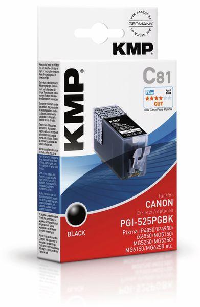 Tintenpatrone KMP, kompatibel für Canon PGI-525PGBK, schwarz