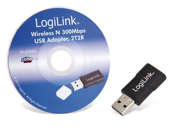 Wireless LAN USB-Stick LOGILINK WL0086A, 300 Mbps