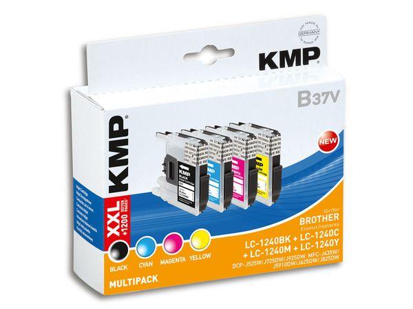 Tintenpatronen-Set KMP, kompatibel für Brother LC-1240BK/C/M/Y