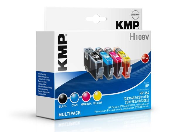 Tintenpatronen-Set KMP, kompatibel für HP 364