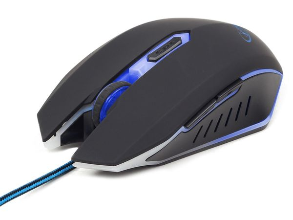 Gaming-Maus GEMBIRD, 2400dpi, blau