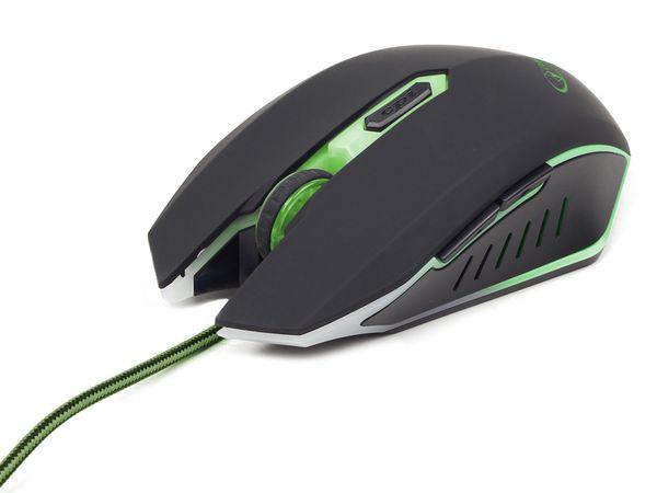 Gaming-Maus GEMBIRD, 2400dpi, grün