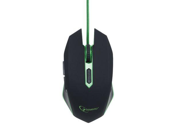 Gaming-Maus GEMBIRD, 2400dpi, grün - Produktbild 2