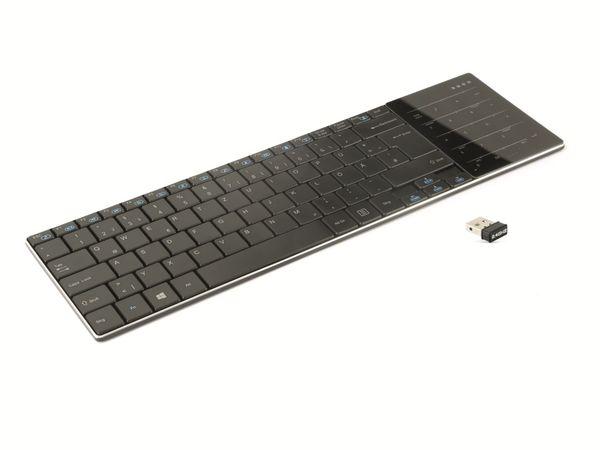 Wireless Tastatur mit Touchpad GEMBIRD KB-P8-DE, schwarz - Produktbild 1