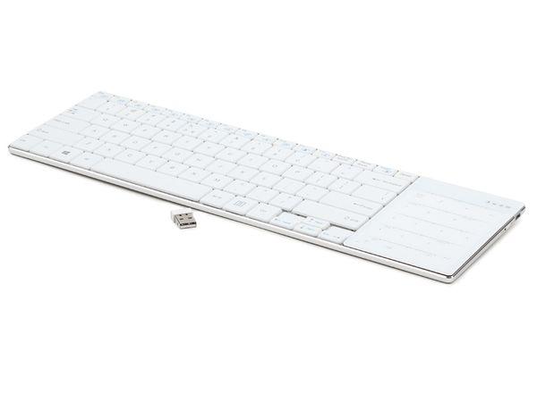 Wireless Tastatur mit Touchpad GEMBIRD KB-P8-W-DE, weiß - Produktbild 1