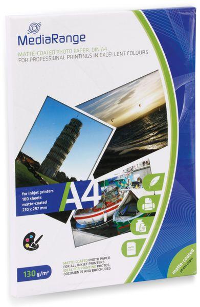Fotopapier MEDIARANGE, DIN A4, 130 g/m², matt