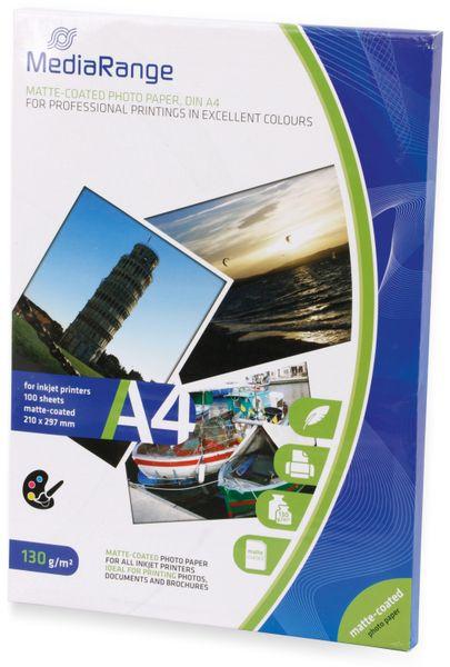 Fotopapier MEDIARANGE, DIN A4, 130 g/m², matt - Produktbild 2