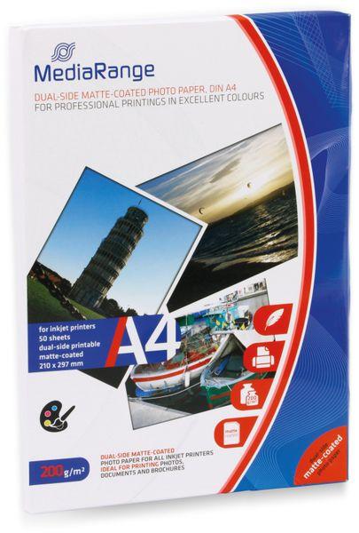 Fotopapier MEDIARANGE, DIN A4, 200 g/m², matt