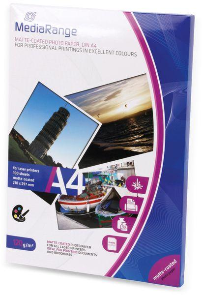 Fotopapier MEDIARANGE, DIN A4, 120 g/m², matt, für Laserdrucker - Produktbild 2