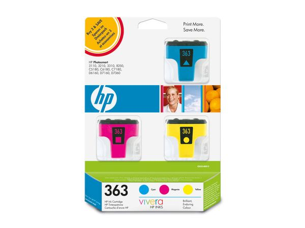 Tinten-Set HP 363 (CB333EE), farbig