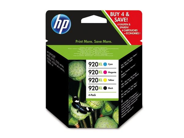 Tinten-Set HP 920XL (C2N92AE), schwarz + farbig
