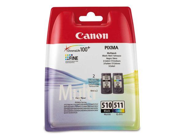 Tinten-Set CANON CL511 + PG510, schwarz + farbig