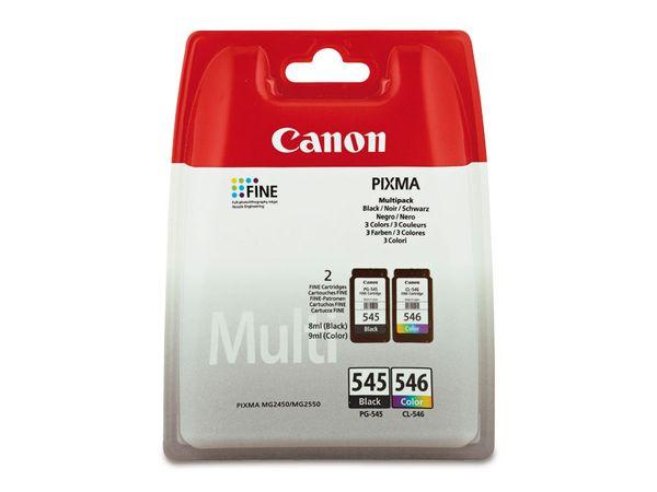 Tinten-Set CANON CL546 + PG545, schwarz + farbig