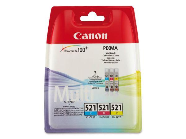 Tinten-Set CANON CLI521CMY, farbig