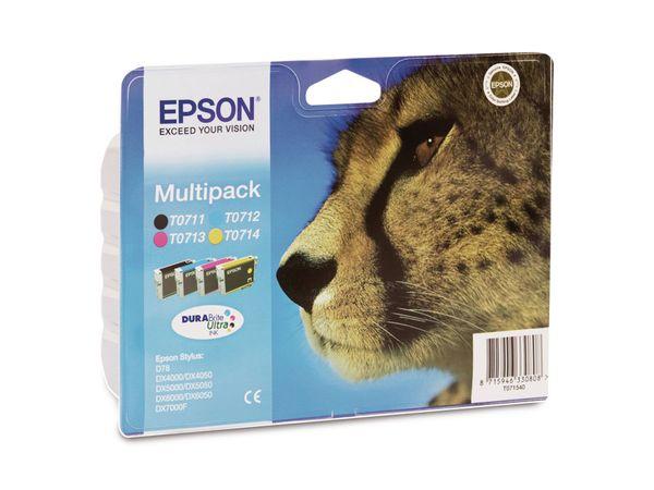 Tinten-Set EPSON T07154010, schwarz + farbig