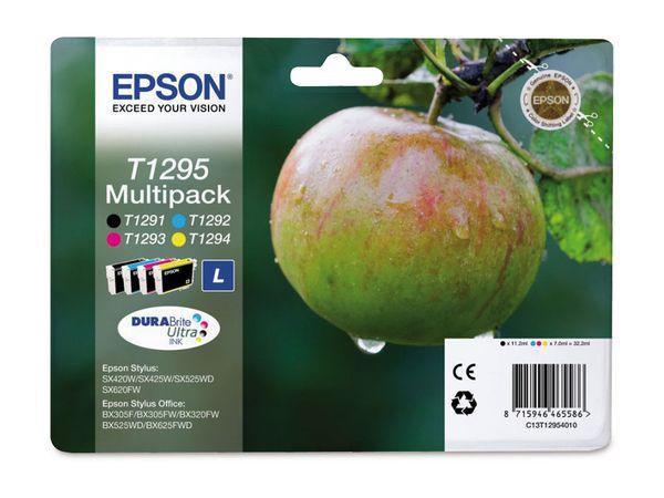 Tinten-Set EPSON T12954010, schwarz + farbig