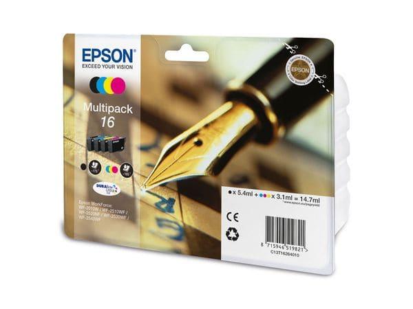 Tinten-Set EPSON T16264010, schwarz + farbig