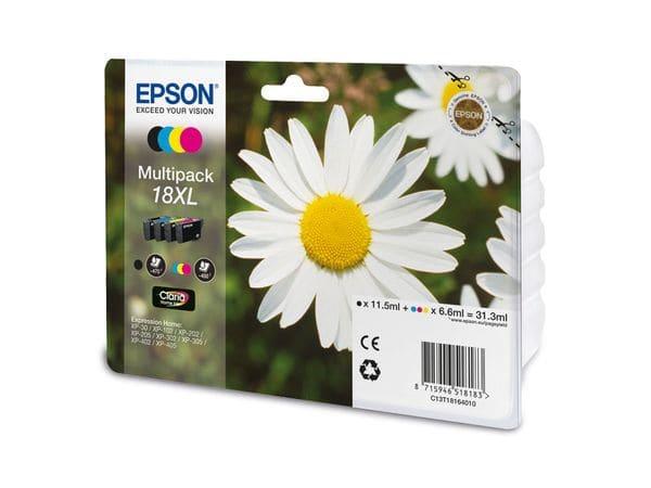 Tinten-Set EPSON T18164010, schwarz + farbig
