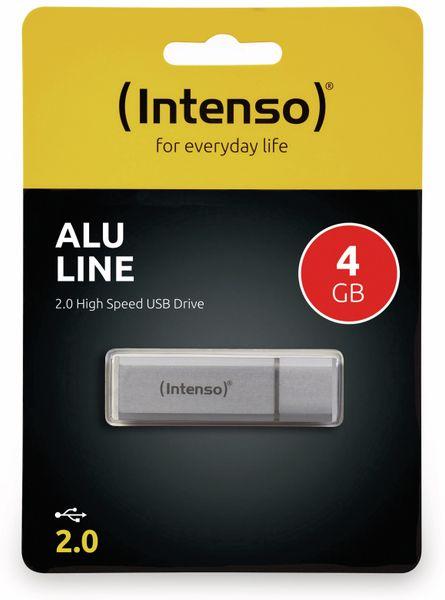 USB 2.0 Speicherstick INTENSO Alu Line, silber, 4 GB - Produktbild 2