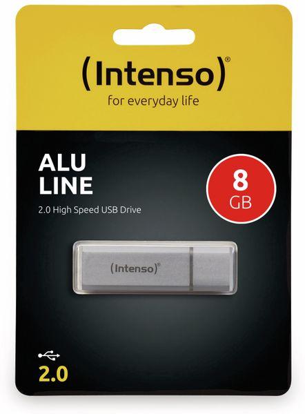 USB 2.0 Speicherstick INTENSO Alu Line, silber, 8 GB - Produktbild 2