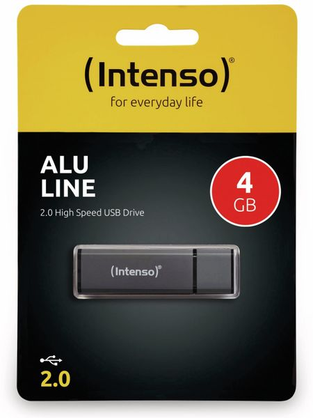 USB 2.0 Speicherstick INTENSO Alu Line, anthrazit, 4 GB - Produktbild 2