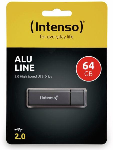 USB 2.0 Speicherstick INTENSO Alu Line, anthrazit, 64 GB - Produktbild 2