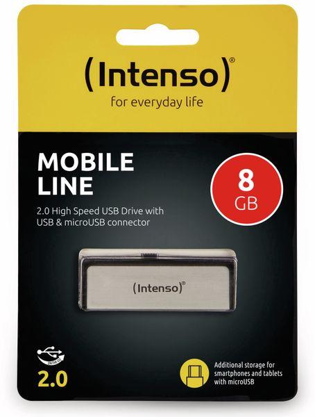 USB 2.0 Speicherstick INTENSO Mobile Line, 8 GB - Produktbild 2